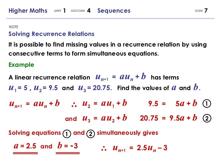 Higher Maths 1 4 - Sequences