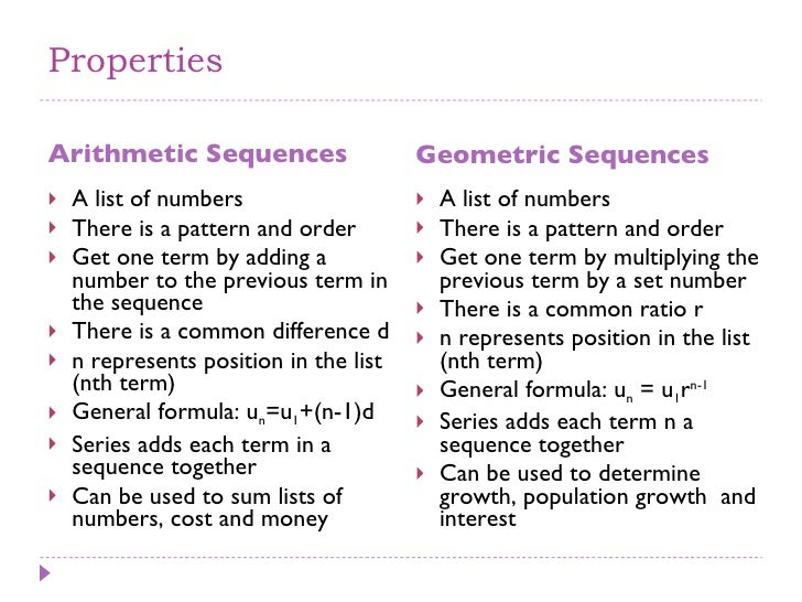 how to find the difference in arithmetic series and sequence