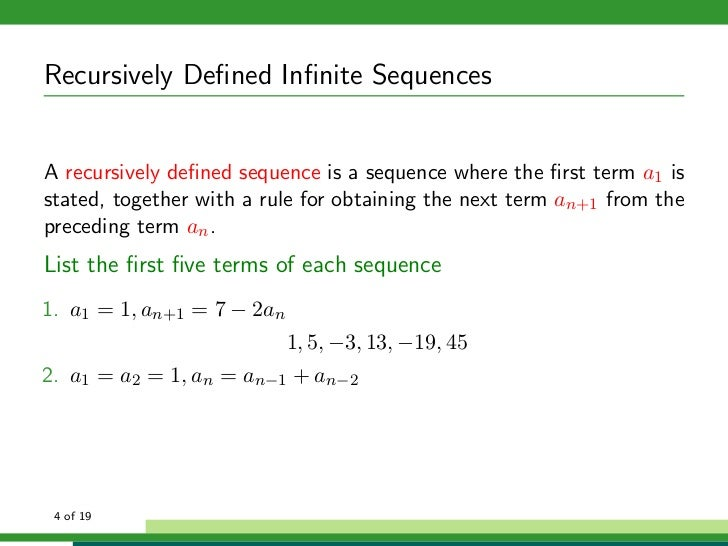 What is a recursive formula for a geometric sequence?