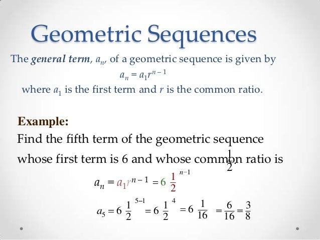 Example 4: Finding Geometric ...