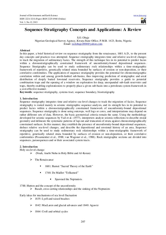 Journal of Environment and Earth Science ISSN 2224-3216 (Paper) ISSN 2225-0948 (Online) Vol. 3, No.12, 2013  www.iiste.org...