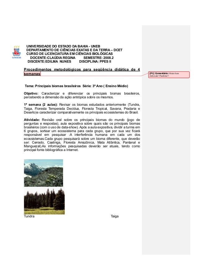 UNIVERSIDADE DO ESTADO DA BAHIA - UNEB DEPARTAMENTO DE CIÊNCIAS EXATAS E DA TERRA – DCET CURSO DE LICENCIATURA EM CIÊNCIAS...