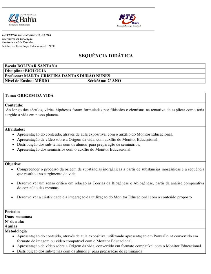 GOVERNO DO ESTADO DA BAHIA Secretaria da Educação Instituto Anísio Teixeira Núcleo de Tecnologia Educacional – NTE        ...