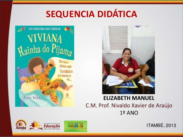 SEQUENCIA DIDÁTICA  ITAMBÉ, 2013