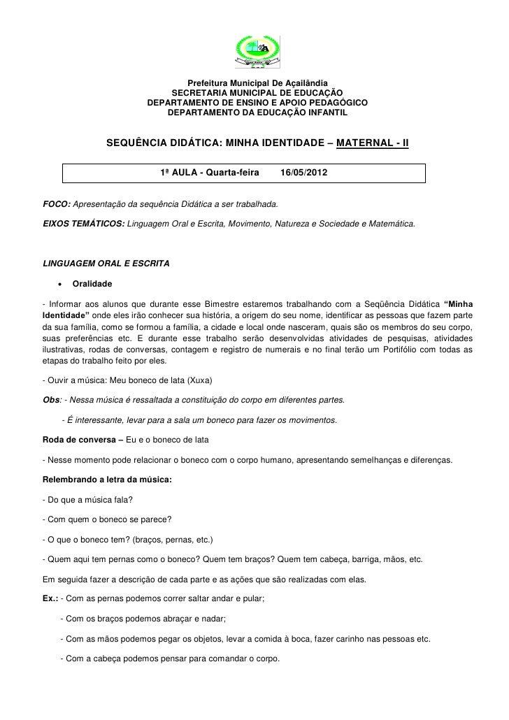 Prefeitura Municipal De Açailândia                               SECRETARIA MUNICIPAL DE EDUCAÇÃO                         ...