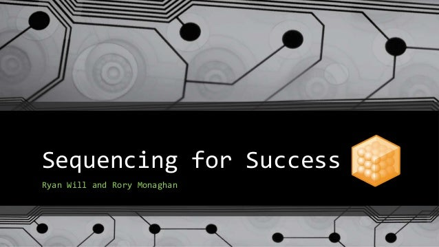 Sequencing for Success Ryan Will and Rory Monaghan