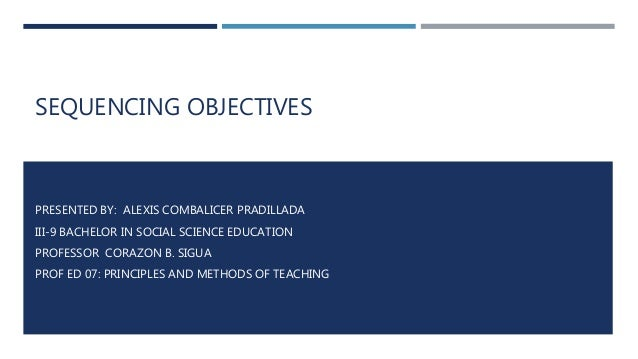 illustrative example of guidelines in constructing objectives