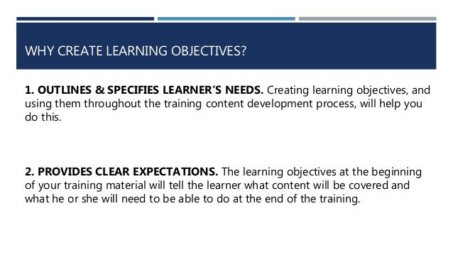 Sequencing Objectives