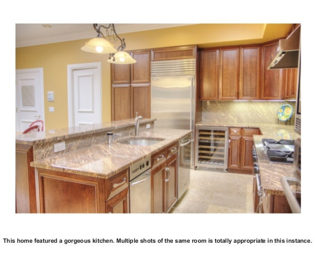 This home featured a gorgeous kitchen. Multiple shots of the same room is totally appropriate in this instance.