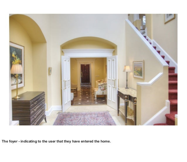 The foyer - indicating to the user that they have entered the home.