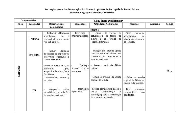 CompetênciasSequência Didáctica nºFocoAssociadasDescritores de desempenhoConteúdosActividades / estratégiasRecursosAvaliaç...