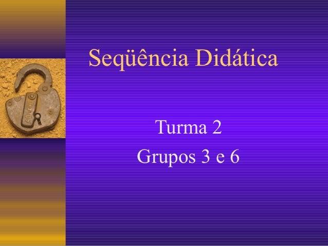 Seqüência DidáticaTurma 2Grupos 3 e 6