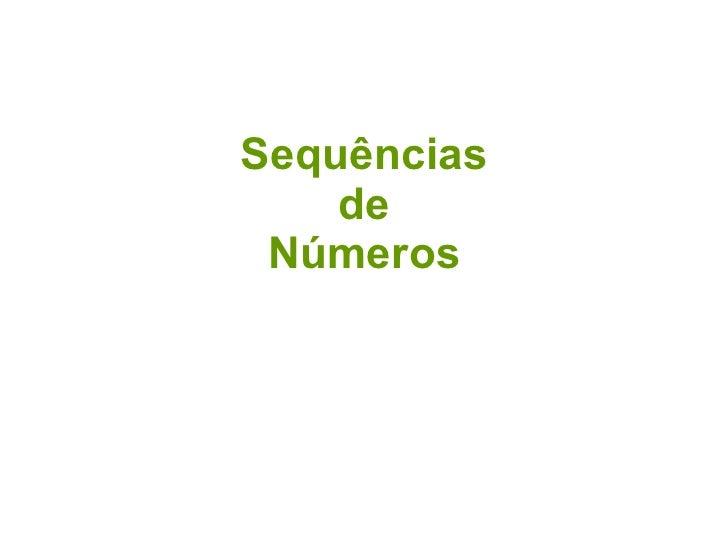 Sequências de Números