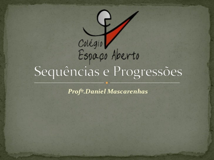 Profº.Daniel Mascarenhas