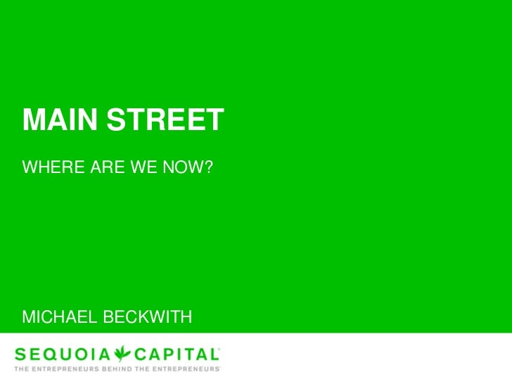 Sequoia Capital on startups and the economic downturn