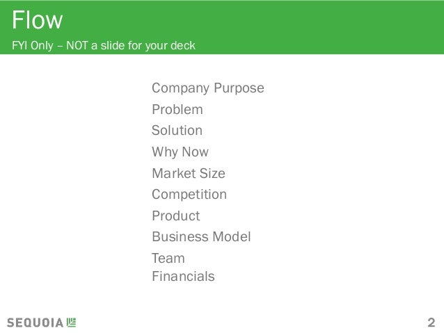 Sequoia Capital Pitch Deck Template - Sequoia capital pitch deck template