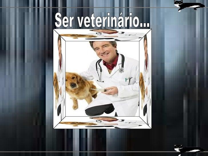 Ser veterinário...