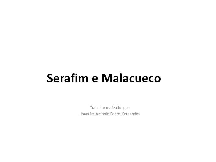 Serafim e Malacueco          Trabalho realizado por     Joaquim António Pedro Fernandes