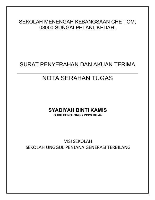 Surat Rasmi Serah Tugas Jalan Permata 2