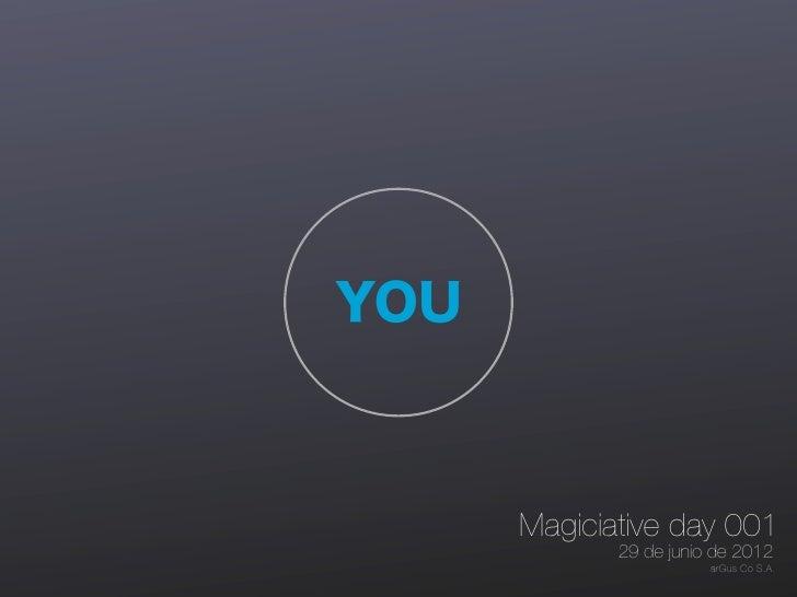 YOU      Magiciative day 001             29 de junio de 2012                        arGus Co S.A.