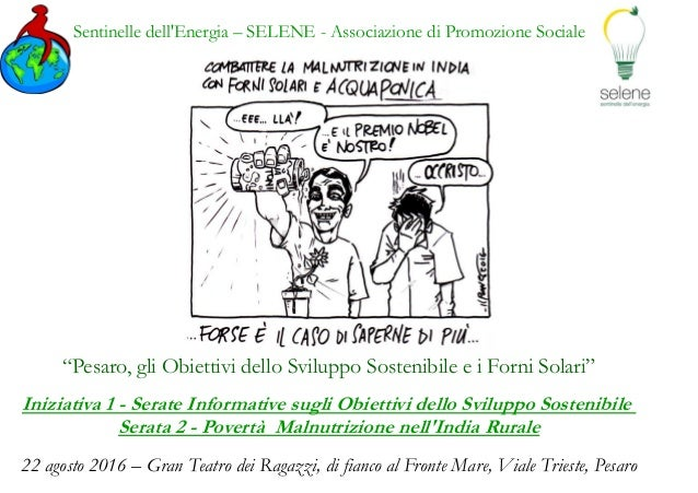 """Sentinelle dell'Energia – SELENE - Associazione di Promozione Sociale """"Pesaro, gli Obiettivi dello Sviluppo Sostenibile e ..."""