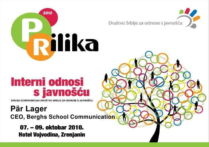 Pär Lager<br />CEO, Berghs School Communication<br />