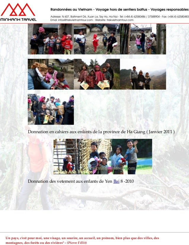 Donnation en cahiers aux enfants de la province de Ha Giang ( Janvier 2011 )Donnation des vetement aux enfants de Yen Bai ...