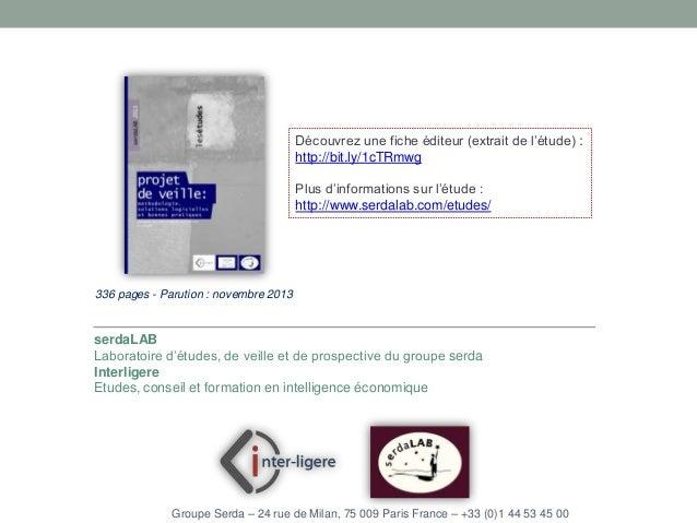 Découvrez une fiche éditeur (extrait de l'étude) : http://bit.ly/1cTRmwg  Plus d'informations sur l'étude : http://www.ser...