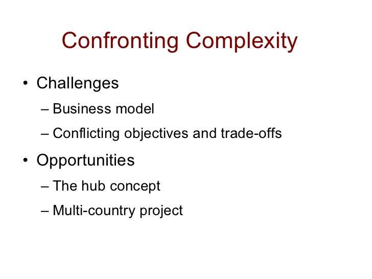 Confronting Complexity <ul><li>Challenges </li></ul><ul><ul><li>Business model </li></ul></ul><ul><ul><li>Conflicting obje...