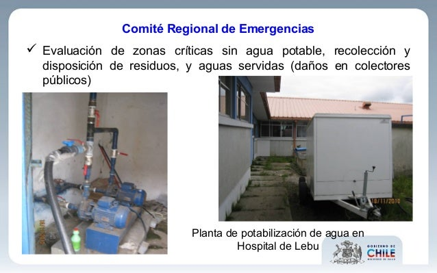  Evaluación de zonas críticas sin agua potable, recolección y disposición de residuos, y aguas servidas (daños en colecto...