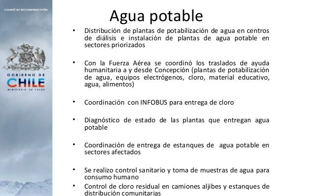 Agua potable • Distribución de plantas de potabilización de agua en centros de diálisis e instalación de plantas de agua p...