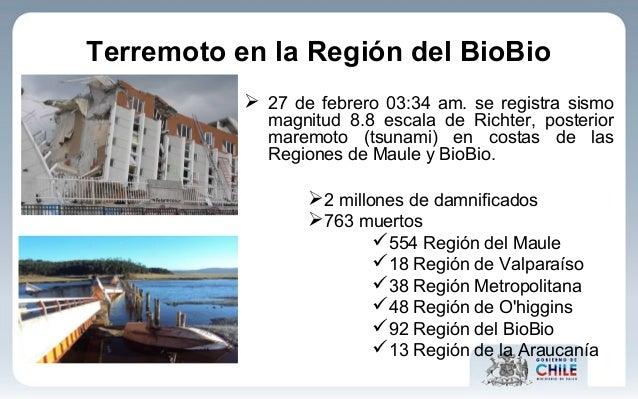 Terremoto en la Región del BioBio  27 de febrero 03:34 am. se registra sismo magnitud 8.8 escala de Richter, posterior ma...