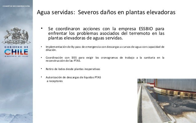 Agua servidas: Severos daños en plantas elevadoras • Se coordinaron acciones con la empresa ESSBIO para enfrentar los prob...