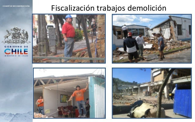 • Apoyo a los municipios en el manejo de los escombros.