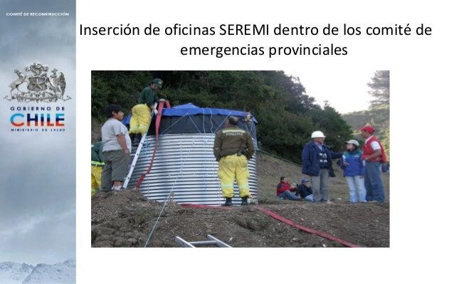 Inserción de oficinas SEREMI dentro de los comité de emergencias provinciales