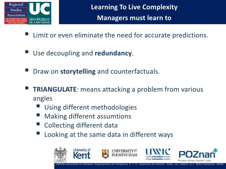 Learning To Live Complexity                                          Managers must learn to   Limit or even eliminate the...