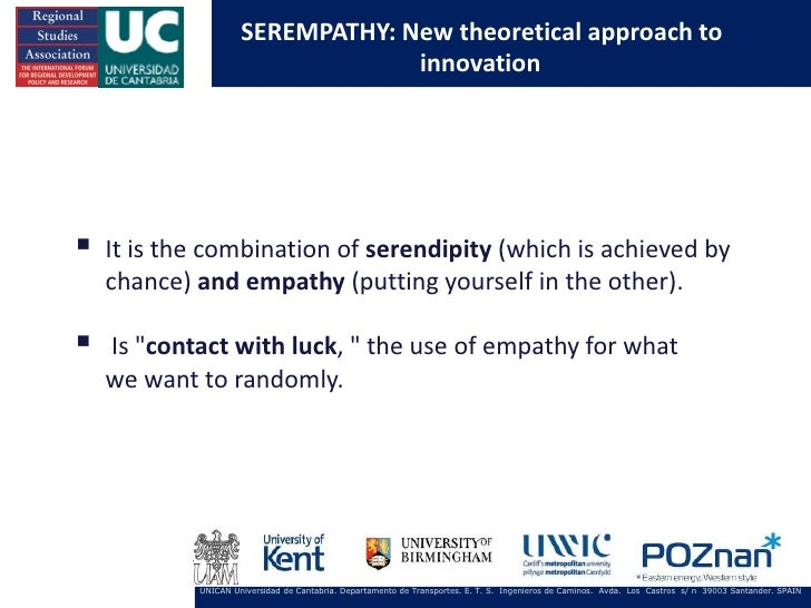 SEREMPATHY: New theoretical approach to                                  innovation   It is the combination of serendipit...