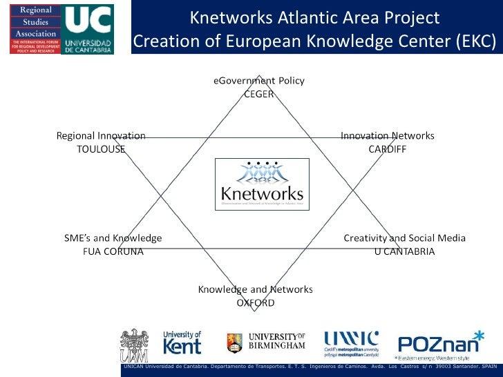 Knetworks Atlantic Area Project   Creation of European Knowledge Center (EKC)UNICAN Universidad de Cantabria. Departamento...