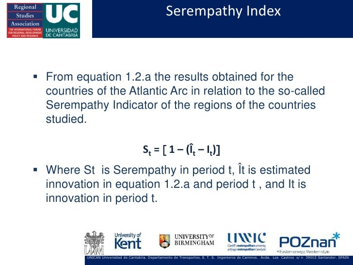 Serempathy Index From equation 1.2.a the results obtained for the  countries of the Atlantic Arc in relation to the so-ca...