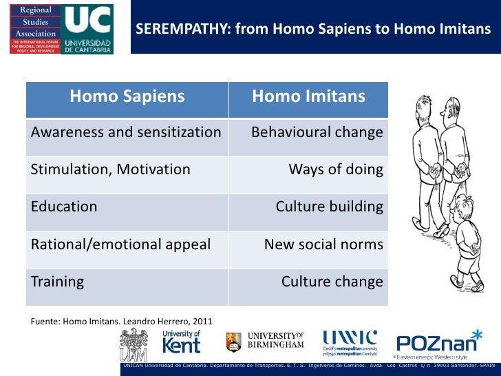 SEREMPATHY: from Homo Sapiens to Homo Imitans         Homo Sapiens                                                Homo Imi...