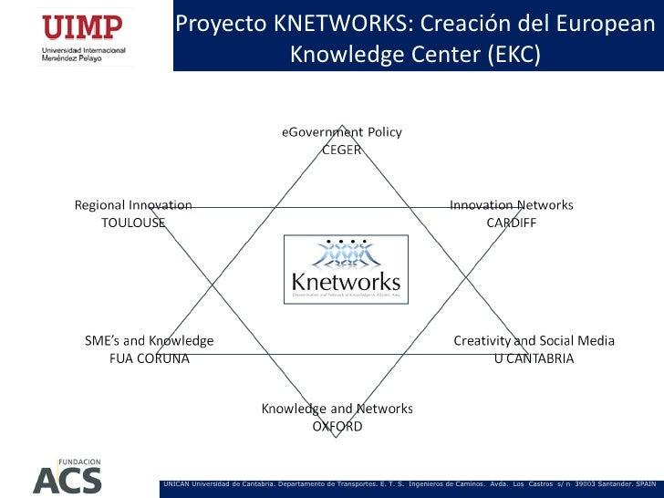 Proyecto KNETWORKS: Creación del European             Knowledge Center (EKC)UNICAN Universidad de Cantabria. Departamento ...