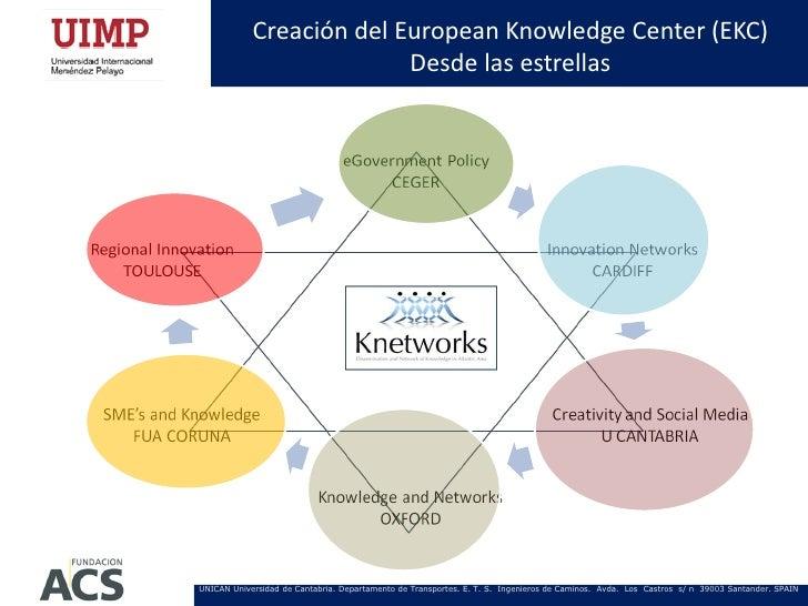 Creación del European Knowledge Center (EKC)                          Desde las estrellasUNICAN Universidad de Cantabria. ...