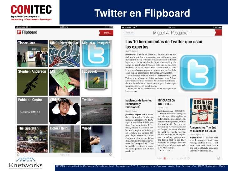 Twitter en FlipboardUNICAN Universidad de Cantabria. Departamento de Transportes. E. T. S. Ingenieros de Caminos. Avda. Lo...