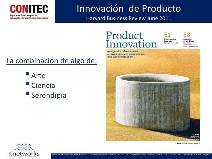 Innovación de Producto                                           Harvard Business Review June 2011La combinación de algo d...