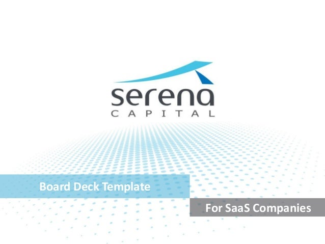 Board Deck Template For SaaS Companies