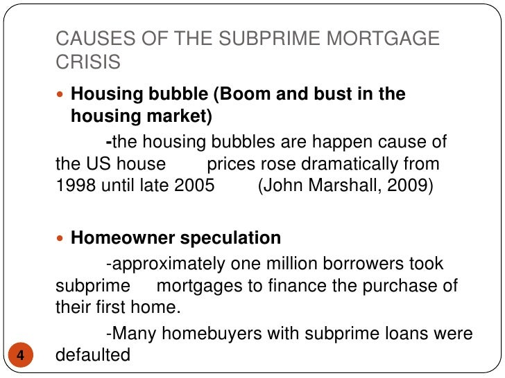 securitization and subprime crisis a critical The 2008 financial crisis: institutional facts,  securitization, and subprime lending led to a correlation that would  the subprime crisis.