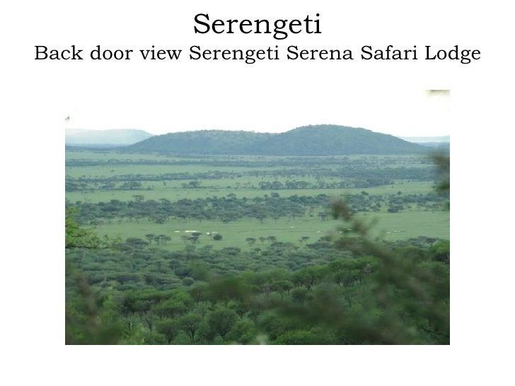 SerengetiBack door view Serengeti Serena Safari Lodge<br />