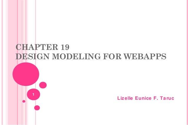CHAPTER 19 DESIGN MODELING FOR WEBAPPS  1  Lizelle Eunice F. Taruc