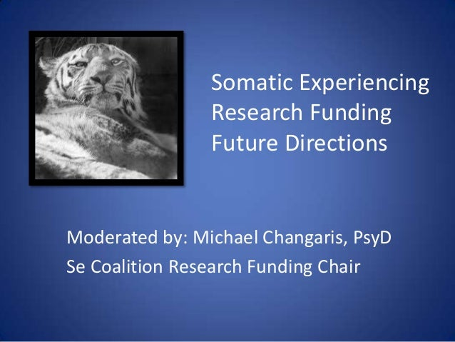 Somatic Experiencing Research Funding Future Directions Moderated by: Michael Changaris, PsyD Se Coalition Research Fundin...