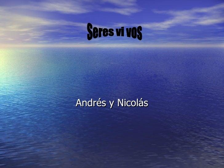 Andrés y Nicolás Seres vi vos